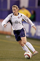 """USA's Kristine Lilly. The US Women's National Team tied the Denmark Women's National Team 1 to 1 during game 8 of the 10 game the """"Fan Celebration Tour"""" at Giant's Stadium, East Rutherford, NJ, on Wednesday, November 3, 2004.."""