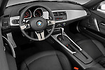 High angle dashboard view of a 2008 BMW Z4 Roadster