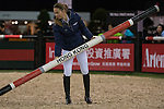 HKJC JETS learn from Jane Richards as part of a series of international rider clinics at the 2014 Longines HK Masters at the Asia World Expo in Hong Kong, China. Photo by Andy Jones / Power Sport Images
