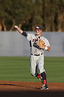Mitchell Gunsolus (9) of the Gonzaga Bulldogs makes a throw during a game against the Loyola Marymount Lions at Page Stadium on March 27, 2015 in Los Angeles, California. Loyola Marymount defeated Gonzaga 6-5.(Larry Goren/Four Seam Images)