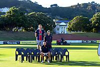 Wellington Blaze team photo at the Basin Reserve in Wellington, New Zealand on Sunday, 14 March 2021. Photo: Dave Lintott / lintottphoto.co.nz