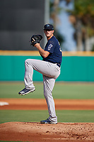 Mobile BayBears pitcher Tyler Carpenter (30) during a Southern League game against the Mobile BayBears on July 25, 2019 at Blue Wahoos Stadium in Pensacola, Florida.  Pensacola defeated Mobile 2-1 in the first game of a doubleheader.  (Mike Janes/Four Seam Images)