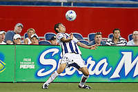 Pachuca CF midfielder Paul Nicolas Aguilar (22). The New England Revolution defeated Pachuca CF 1-0 during a Group B match of the 2008 North American SuperLiga at Gillette Stadium in Foxborough, Massachusetts, on July 16, 2008.