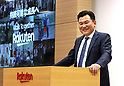 Rakuten president Hiroshi Mikitani announced the company's financial result