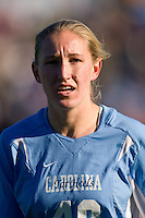 North Carolina Tar Heels forward Emmalie Pfankuch (40). The North Carolina Tar Heels defeated the Notre Dame Fighting Irish 2-1 during the finals of the NCAA Women's College Cup at Wakemed Soccer Park in Cary, NC, on December 7, 2008. Photo by Howard C. Smith/isiphotos.com