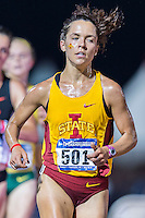 Samantha Bluske of Iowa State competes in 10000 meter semifinal during West Preliminary Track & Field Championships at John McDonnell Field, Thursday, May 29, 2014 in Fayetteville, Ark. (Mo Khursheed/TFV Media via AP Images)