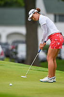 16th July 2021, Midland, MI, USA;  Minjee Lee (AUS) watches her birdie putt on 1 during the Dow Great Lakes Bay Invitational Rd3 at Midland Country Club on July 16, 2021 in Midland, Michigan.