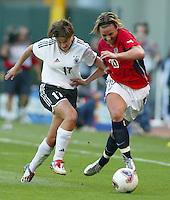 Abby Wambach, right, Ariane Hingst, left, USA vs. Germany 2003 WWC.