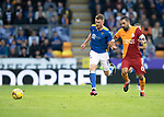 St Johnstone v Galatasaray…12.08.21  McDiarmid Park Europa League Qualifier<br />James Brown and Arda Turan<br />Picture by Graeme Hart.<br />Copyright Perthshire Picture Agency<br />Tel: 01738 623350  Mobile: 07990 594431
