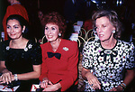 ROSANNA SCHIAFFINO CON ANNA CRAXI E MARINA CICOGNA<br /> SFILATA VALENTINO GRAND HOTEL ROMA 1986