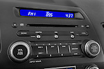 Stereo audio system close up detail view of a 2009 Honda Civic Hybrid