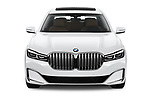 Car photography straight front view of a 2020 BMW 7 Series 740i Luxury 4 Door Sedan