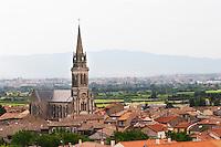 church and village cornas rhone france