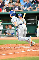 Southern Divisions second baseman Bret Boswell (3) of the Asheville Tourists runs to first base during the South Atlantic League All Star Game at First National Bank Field on June 19, 2018 in Greensboro, North Carolina. The game Southern Division defeated the Northern Division 9-5. (Tony Farlow/Four Seam Images)