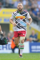 Joe Marler of Harlequins during the Premiership Rugby Round 1 match between London Irish and Harlequins at Twickenham Stadium on Saturday 6th September 2014 (Photo by Rob Munro)