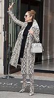 July 27 2017, PARIS FRANCE Singer Celine Dion leaves the Royal Monceau Hotel on<br /> Avenue Hoche