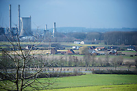 the (soon to disappear) landmark towers in the middle of the Flemish Ardennes are a backdrop of many race cycling pics<br /> <br /> 3-daagse van West-Vlaanderen 2016<br /> stage1: Bruges-Harelbeke 176km