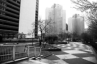 An empty Gateway Center Park in downtown during rush hour on Monday March 23, 2020 in Pittsburgh, Pennsylvania. (Photo by Jared Wickerham/Pittsburgh City Paper)