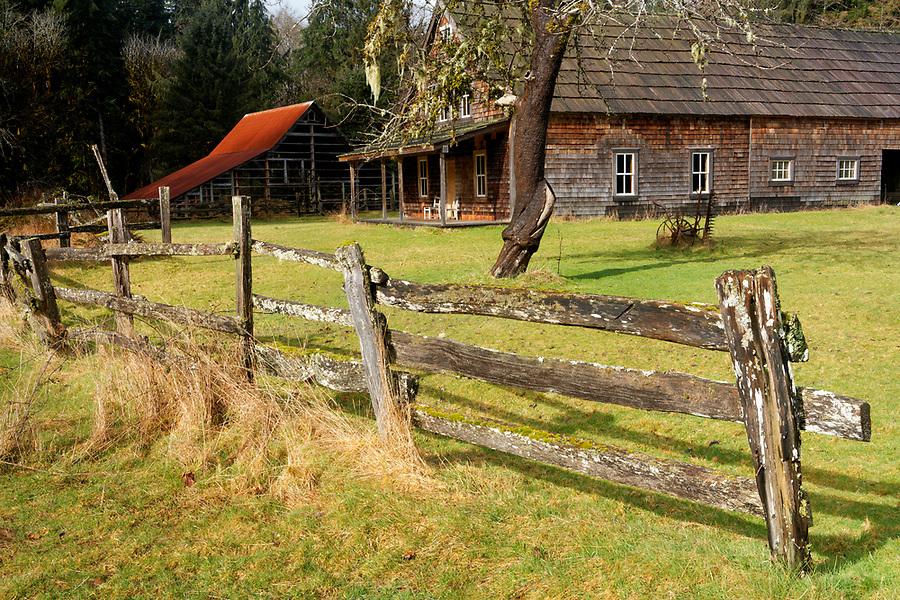 Kestner Homestead, Quinault Rainforest, Olympic National Park, Jefferson County, Washington, USA