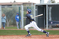 Sage Pera (12) of Mission College Prep High School in Templeton, California during the Under Armour All-American Pre-Season Tournament presented by Baseball Factory on January 15, 2017 at Sloan Park in Mesa, Arizona.  (Freek Bouw/MJP/Four Seam Images)
