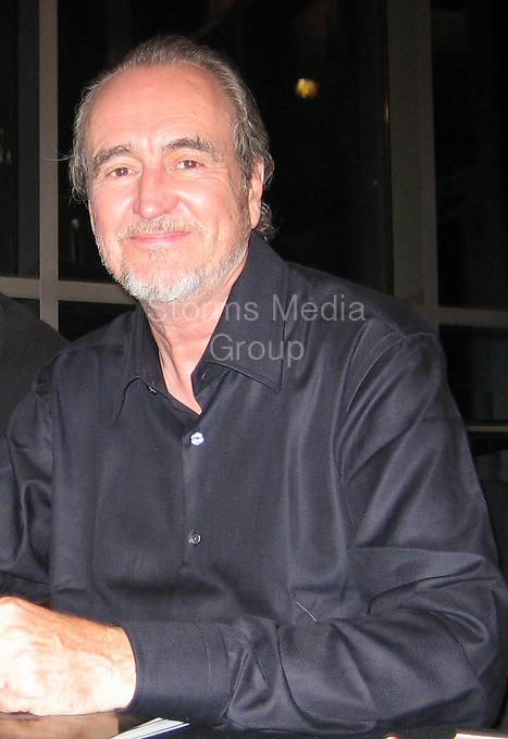 """MIAMI BEACH, FL - 2005:   Wes Craven legendary horror director of """"Nightmare on Elm Street"""" and """"Scream,"""" has died Craven passed away Sunday at his home in Los Angeles after battling brain cancer seen here in 2005 in Miami Beach, Florida<br /> <br /> People:  Wes Craven"""