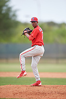 Philadelphia Phillies pitcher Randy Alcantara (71) during a Minor League Spring Training game against the Toronto Blue Jays on March 30, 2018 at Carpenter Complex in Clearwater, Florida.  (Mike Janes/Four Seam Images)