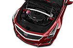 Car Stock 2018 Cadillac CTS V V 4 Door Sedan Engine  high angle detail view