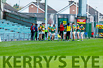 Action from Kerry v Galway in the U20 All Ireland football semi final.