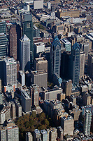 aerial photograph of Rittenhouse Square and Philadelphia's tallest skyscrapers, Philadelphia, Pennsylvania