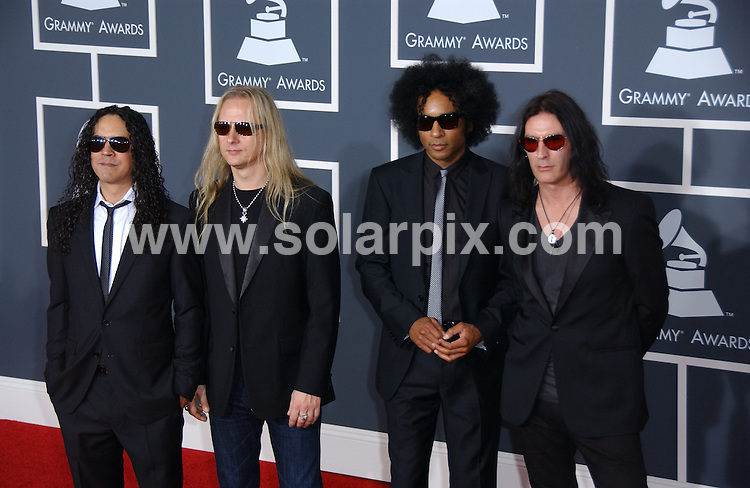 **ALL ROUND PICTURES FROM SOLARPIX.COM**.**SYNDICATION RIGHTS FOR UK, AUSTRALIA, DENMARK, PORTUGAL, S. AFRICA, SPAIN & DUBAI (U.A.E) ONLY**.arrivals for the 52nd Annual GRAMMY Awards at the Staples Center at the Los Angeles, CA, USA. 31 January 2010..This pic: Alice in Chains..JOB REF: 10591 PHZ Ortega   DATE: 31_01_2010.**MUST CREDIT SOLARPIX.COM OR DOUBLE FEE WILL BE CHARGED**.**MUST NOTIFY SOLARPIX OF ONLINE USAGE**.**CALL US ON: +34 952 811 768 or LOW RATE FROM UK 0844 617 7637**