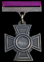 BNPS.co.uk (01202 558833)<br /> Pic:  Spink&Son/BNPS<br /> <br /> PICTURED: The Victoria Cross medal<br /> <br /> A Victoria Cross won by a soldier who swam across a river to single-handedly take out a German machine gun post has sold for £235,000.<br /> <br /> Lance Sergeant Arthur Evans crawled up behind the enemy position and shot the sentry and another soldier before making four more surrender.<br /> <br /> In the same mission he helped cover the withdrawal of a wounded British officer who had been peppered with machine gun fire.