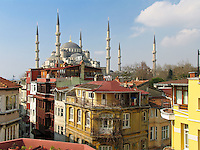 Blue Mosque from Hotel Side, Sultanahmet, Istanbul