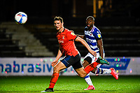 21st April 2021; Kenilworth Road, Luton, Bedfordshire, England; English Football League Championship Football, Luton Town versus Reading; Matty Pearson of Luton Town watches as the ball goes safely behind for a goal kick.