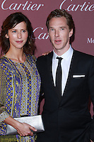 PALM SPRINGS, CA, USA - JANUARY 03: Sophie Hunter, Benedict Cumberbatch arrive at the 26th Annual Palm Springs International Film Festival Awards Gala Presented By Cartier held at the Palm Springs Convention Center on January 3, 2015 in Palm Springs, California, United States. (Photo by David Acosta/Celebrity Monitor)