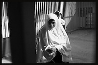 Obeida Khalil a member of the Islamic Jihad movement is seen in an internal yard at Hasharon Israeli prison. ..Khalil, 29 was arrested by Israeli soldiers when she was preparing for a suicide attack in Tel Aviv bus station. Photo by Quique Kierszenbaum..