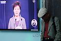 South Korean President Park Geun-Hye speaks to the nation