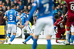 St Johnstone v Rangers…22.09.19   McDiarmid Park   SPFL<br />Murray Davidson's shot is bloked on the line<br />Picture by Graeme Hart.<br />Copyright Perthshire Picture Agency<br />Tel: 01738 623350  Mobile: 07990 594431
