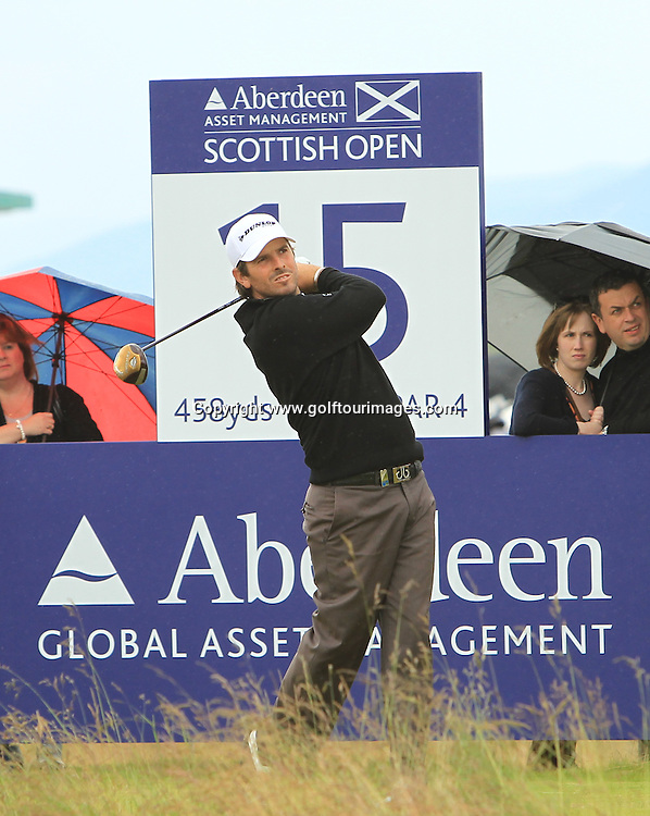 Thomas Aiken (RSA) during the third round of the 2012 Aberdeen Asset Management Scottish Open being played over the links at Castle Stuart, Inverness, Scotland from 12th to 15th July 2012:  Stuart Adams www.golftourimages.com:14th July 2012