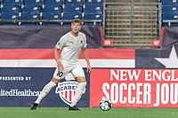 FOXBOROUGH, MA - SEPTEMBER 1: Charlie Dennis #10 of FC Tucson looks to pass during a game between FC Tucson and New England Revolution II at Gillette Stadium on September 1, 2021 in Foxborough, Massachusetts.