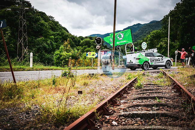 The publicity caravan before Stage 17 of the 2021 Tour de France, running 178.4km from Muret to Saint-Lary-Soulan Col du Portet, France. 14th July 2021.  <br /> Picture: A.S.O./Aurelien Vialatte   Cyclefile<br /> <br /> All photos usage must carry mandatory copyright credit (© Cyclefile   A.S.O./Aurelien Vialatte)