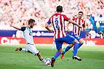 "Atletico de Madrid's player Diego Godín and Gabriel ""Gabi"" Fernández and Deportivo de la Coruña's player Emre during a match of La Liga Santander at Vicente Calderon Stadium in Madrid. September 25, Spain. 2016. (ALTERPHOTOS/BorjaB.Hojas)"
