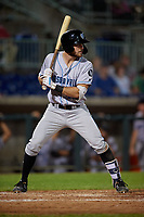 Hudson Valley Renegades Hill Alexander (18) at bat during a NY-Penn League game against the Mahoning Valley Scrappers on July 15, 2019 at Eastwood Field in Niles, Ohio.  Mahoning Valley defeated Hudson Valley 6-5.  (Mike Janes/Four Seam Images)
