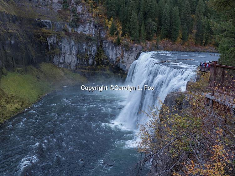 Upper Mesa Falls is a beautiful area in Idaho.