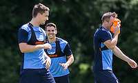 Matt Bloomfield smiles during the Wycombe Wanderers 2016/17 Pre Season Training Session at Wycombe Training Ground, High Wycombe, England on 1 July 2016. Photo by Andy Rowland / PRiME Media Images.