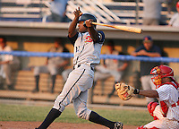 2007:  Marcus Davis of the State College Spikes at bat during a game vs. the Batavia Muckdogs in New York-Penn League baseball action.  Photo By Mike Janes/Four Seam Images