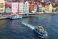 Willemstad, Curacao, Lesser Antilles.  Pedestrian Ferry Leaving Punda Side, heading for Otrobanda.