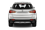 Straight rear view of 2021 Mg EHS Luxury 5 Door SUV Rear View  stock images