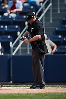 Home plate umpire Jacob Metz during the game between the Rochester Red Wings and the Scranton/Wilkes-Barre RailRiders at PNC Field on July 25, 2021 in Moosic, Pennsylvania. (Brian Westerholt/Four Seam Images)