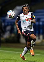 Bolton Wanderers' Jamie Mascoll runs on to the ball<br /> <br /> Photographer Andrew Kearns/CameraSport<br /> <br /> EFL Papa John's Trophy - Northern Section - Group C - Bolton Wanderers v Newcastle United U21 - Tuesday 17th November 2020 - University of Bolton Stadium - Bolton<br />  <br /> World Copyright © 2020 CameraSport. All rights reserved. 43 Linden Ave. Countesthorpe. Leicester. England. LE8 5PG - Tel: +44 (0) 116 277 4147 - admin@camerasport.com - www.camerasport.com