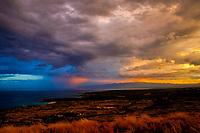 Stormy Sunrise Kukio and Hualalai and Four Seasons Resort area The Big Island of Hawaii